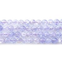 Abalorios de Cuarzo Craquelado, Esférico, diverso tamaño para la opción, violeta gris, agujero:aproximado 1mm, Vendido para aproximado 15.5 Inch Sarta