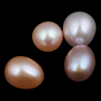 No Hole Cultured Freshwater Pearl Beads, Rice, natural, mixed colors, Grade AAA, 9-10mm, Sold By PC
