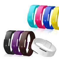 LED horloges, TPU, meer kleuren voor de keuze, 20mm, Lengte:Ca 9.5 inch, Verkocht door PC