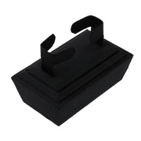 Velveteen Bracelet Display, with Wood, black, 100x70x60mm, 10PCs/Lot, Sold By Lot