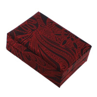 Velveteen Pendant Box, with Cardboard, Rectangle, red, 70x100x38mm, 18PCs/Lot, Sold By Lot