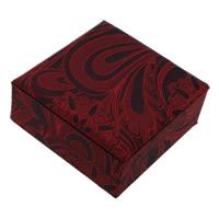 satyna Pudełko na bransoletki, ze Tektura, Kwadrat, czerwony, 100x45mm, 18komputery/wiele, sprzedane przez wiele