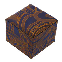 Satin Single Ring Box with Sponge   Cardboard Cube 60x50mm 24PCs/Lot