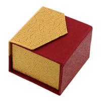 Tektura Pojedyncze pudełko na pierścionek, ze Gąbka, Kostka, 52x50mm, 48komputery/wiele, sprzedane przez wiele