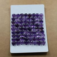 Аметист кабошон, Сердце, натуральный, Камень февраля & разный размер для выбора & плоской задней панелью, продается Лот