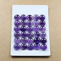Аметист кабошон, Плоская круглая форма, натуральный, Камень февраля & разный размер для выбора & плоской задней панелью, продается Лот