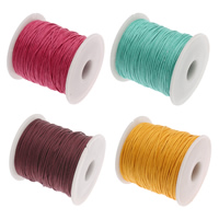 Wax Cord Waxed Cotton Cord with plastic spool 1mm 100Yard/Spool