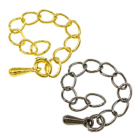 Brass Extender Chain plated nickel lead   cadmium free 5x3.5x0.5mm Length:2 Inch 500Strands/Lot