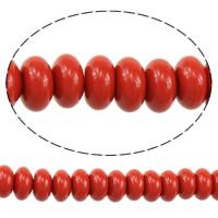 Koraliki z żywicy, żywica, Okrąg, imitacja cynobrowy, czerwony, 4x8x8mm, otwór:około 2mm, długość:około 16 cal, 3nici/wiele, około 88komputery/Strand, sprzedane przez wiele