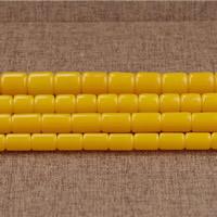 Koraliki z żywicy imitujące bursztyn, żywica, Kolumna, imitacja wosku pszczelego & różnej wielkości do wyboru, otwór:około 2mm, długość:około 15.5 cal, sprzedane przez wiele