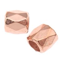 Koraliki Biżuteria akrylowe, Akryl, Kolumna, fasetowany, oryginalny kolor, 6mm, otwór:około 4mm, około 9995komputery/torba, sprzedane przez torba