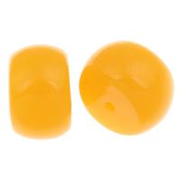 Koraliki z żywicy imitujące bursztyn, żywica, Bęben, imitacja wosku pszczelego, żółty, 11x18mm, otwór:około 1mm, około 175komputery/torba, sprzedane przez torba