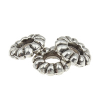 Zinc Alloy Spacer Beads Flat Round antique silver color plated lead   cadmium free 9x3mm Hole:Approx 3mm 100G/Bag