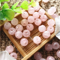 Natural Rose Quartz Beads, Round, 8mm, Hole:Approx 3mm, 50PCs/Bag, Sold By Bag