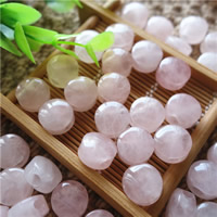 Natural Rose Quartz Beads, Flat Round, 8x12mm, Hole:Approx 3mm, 10PCs/Bag, Sold By Bag