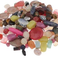 Goedkeuring Gemstone Beads, Edelsteen, gemengd, 10x5mm-30x40x8mm, Gat:Ca 1-1.5mm, Ca 100pC's/KG, Verkocht door KG