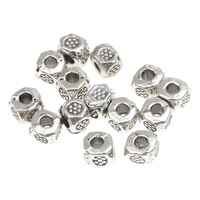 Zinc Alloy Jewelry Beads Cube antique silver color plated lead   cadmium free 3x3mm Hole:Approx 1mm Approx 680PCs/Bag