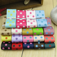 Grosgrain Ribbon with round spot pattern 25mm