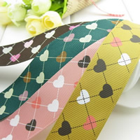Grosgrain Ribbon with heart pattern 25mm 50m/Bag