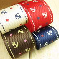 Grosgrain Ribbon with star pattern 25mm 50m/Bag