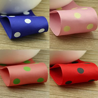Grosgrain Ribbon with round spot pattern 38mm 50m/Bag