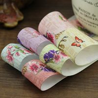 Polyester Ribbon, with butterfly pattern & with flower pattern, more colors for choice, 25mm, 50m/Bag, Sold By Bag