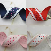 Grosgrain Ribbon with round spot pattern 15mm 50m/Bag