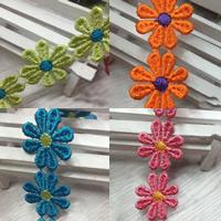 Koronki wstążką, Poliester, Kwiat, dostępnych więcej kolorów, 25mm, 45m/wiele, sprzedane przez wiele