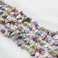 Keishi Cultured Freshwater Pearl Beads, multi-colored, 5mm, Hole:Approx 0.8mm, Sold Per Approx 15 Inch Strand