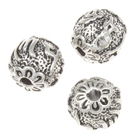 Zinc Alloy Jewelry Beads Round antique silver color plated lead   cadmium free 9x9mm Hole:Approx 1mm Approx 35PCs/Bag