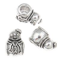 Pandor Kerst Kralen, Zinc Alloy, Sneeuwpop, antiek zilver plated, Kerst sieraden & zonder troll, lood en cadmium vrij, 10x15x10mm, Gat:Ca 5mm, Ca 22pC's/Bag, Verkocht door Bag