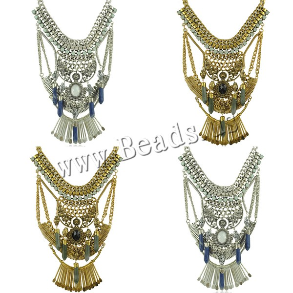 Buy Zinc Alloy Jewelry Necklace Resin 2Inch extender chain pendulum plated imitation gemstone & twist oval chain & faceted colors choice nickel lead & cadmium free 120mm Length:Approx 16.92 Inch 3Strands/Lot Sold Lot