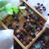 Natural Indian Agate Beads, Cube, different size for choice, Hole:Approx 1mm, 50PCs/Bag, Sold By Bag