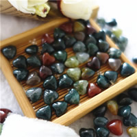 Natural Indian Agate Beads, Heart, 8mm, Hole:Approx 1mm, 30PCs/Bag, Sold By Bag