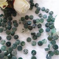 Luonnollinen Moss akaatti helmet, Litteä pyöreä, 6x3mm, Reikä:N. 1mm, 50PC/laukku, Myymät laukku