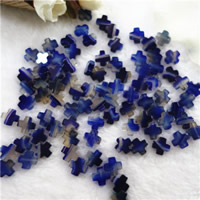 Natural Blue Agate Beads, Cross, 12mm, Hole:Approx 1mm, 20PCs/Bag, Sold By Bag