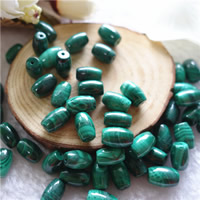 Natural Malachite Beads, Oval, 7x10mm, Hole:Approx 1mm, 10PCs/Bag, Sold By Bag
