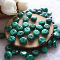 Natural Malachite Beads, Rondelle, different size for choice, Hole:Approx 1mm, 30PCs/Bag, Sold By Bag
