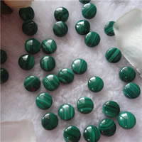 Natural Malachite Beads, Flat Round, no hole, 10mm, 5PCs/Bag, Sold By Bag