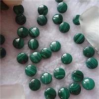 Natural Malachite Beads, Flat Round, no hole, 10mm, 5PCs/Bag, Sold By Bag