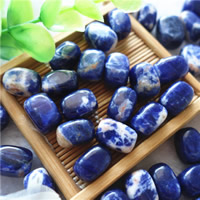 Natural Sodalite Beads, Square, 10x14x9mm, Hole:Approx 1.5mm, 30PCs/Bag, Sold By Bag