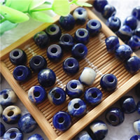 Natural Sodalite Beads, Drum, different size for choice, Hole:Approx 3mm, 20PCs/Bag, Sold By Bag