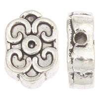 Zinc Alloy Jewelry Beads antique silver color plated lead   cadmium free 12x8x4mm Hole:Approx 1mm Approx 50PCs/Bag
