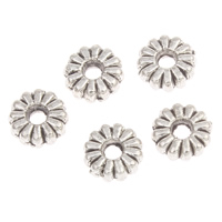 Zinc Alloy Spacer Beads Flower antique silver color plated lead   cadmium free 6x2mm Hole:Approx 1mm Approx 250PCs/Bag