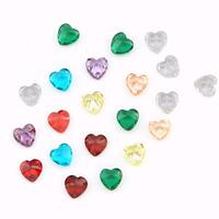 Кабошоны из циркония, кубический цирконий, Сердце, острый конец, Много цветов для выбора, 4x4mm, 200ПК/Лот, продается Лот