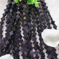 Natural Blue Goldstone Beads, Cross, 12mm, Hole:Approx 1mm, Approx 33PCs/Strand, Sold Per Approx 15.7 Inch Strand