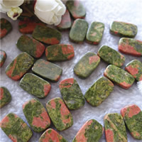 Natural Unakite Beads, Rectangle, 12x20mm, Hole:Approx 1mm, 20PCs/Bag, Sold By Bag