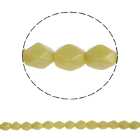 Jade Olive Beads, natural, faceted, 18x12mm, Hole:Approx 2mm, Approx 22PCs/Strand, Sold Per Approx 16 Inch Strand