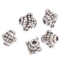 Zinc Alloy Jewelry Beads antique silver color plated lead   cadmium free 8x9mm Hole:Approx 1mm Approx 80PCs/Bag