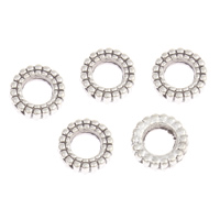 Zinc Alloy Large Hole Bead Donut antique silver color plated lead   cadmium free 7x2mm Hole:Approx 4mm Approx 330PCs/Bag